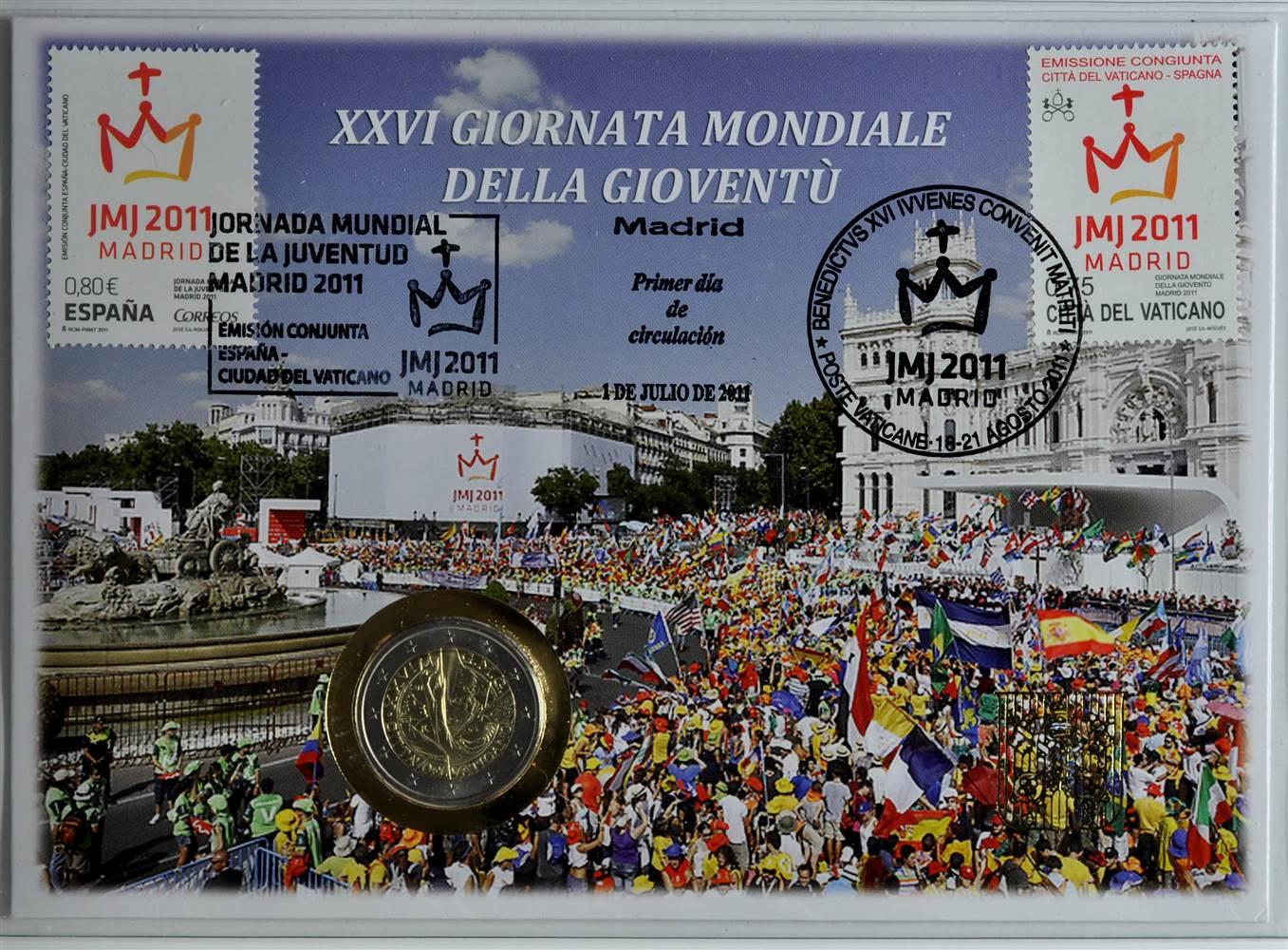 50243-Vatikan-Numisbrief-034-26-Jugendtag-in-Madrid-034-mit-2-Euro-2011-st
